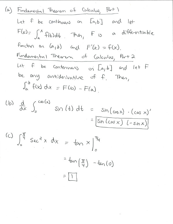 calculus 1 midterm 2 Calculus i - spring 2014 midterm exam i, march 5, 2014 in all non-multiple choice problems you are required to show all your work and provide the necessary  15 suppose that s(t) = 1+5t−2t2 is the position function of a particle, where s is in meters and t is in seconds find the particle's instantaneous velocity at time t = 2 s.