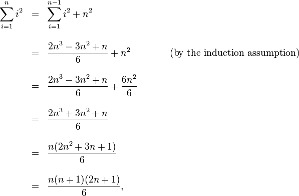 An Introduction To Mathematical Induction The Sum Of The First N